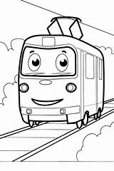Tram Coloring Pages раскраски все категории из Transport sketch template