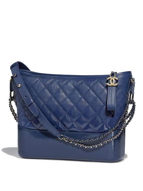 lyst chanel  gabrielle hobo bag  blue