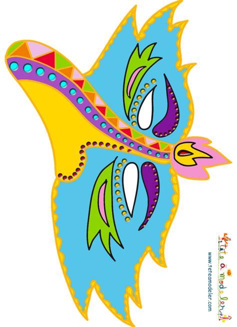 masque paper toy oiseau bleu bord jaune  imprimer sur