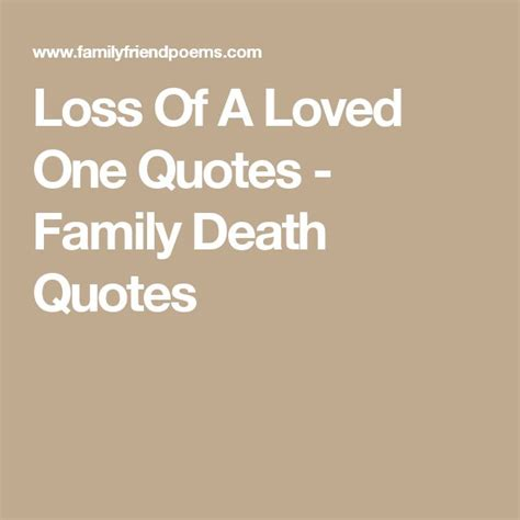 quotes for family after death