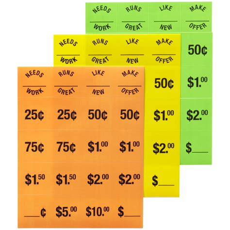 How To Price For A Garage Sale by Garage Sale Price Tags The Container Store