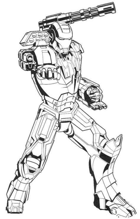 powerful iron man coloring page dibujos  colorear