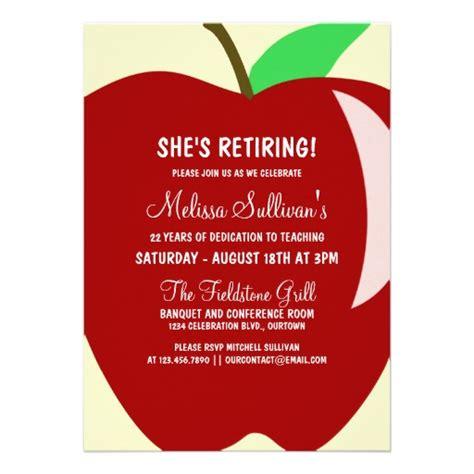 teacher retirement party invitation zazzlecom moms