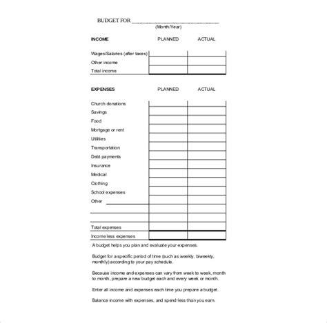 budget tracker templates  sample  format