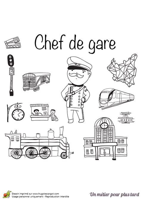 jeux de cuisine chef coloriage le métier de chef de gare