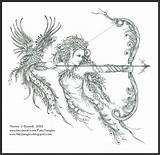 Fairy Phoenix Zentangle Pages Coloring Elf Tangles Burnell Norma Adults Elves Archeress Fairytangles Adult Fairies Tattoo March Printable Zen Colouring sketch template