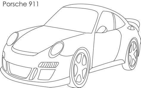 Porsche Car Coloring Pages Super Page For Kids
