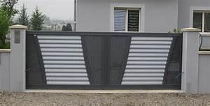 Portail Battant 5 Metres : portail 6 metres 2 vantaux portail a battant pas cher menuisier ebeniste concarneau ~ Nature-et-papiers.com Idées de Décoration