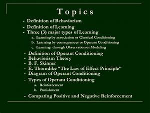 describe the theory of operant conditioning