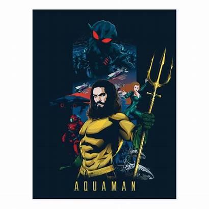 Aquaman Mera Manta Orin Graphic Postcard Poster
