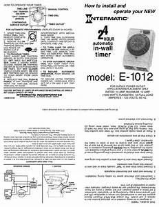 Intermatic E1012 Installation  U0026 Operation Pdf Download