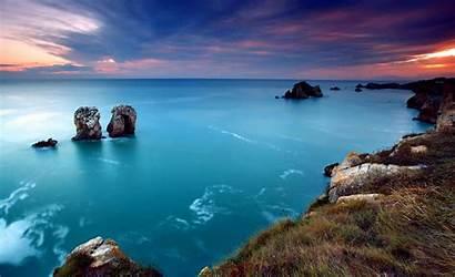 Ocean Wallpapers Sea Views Sunset Waves Rocks