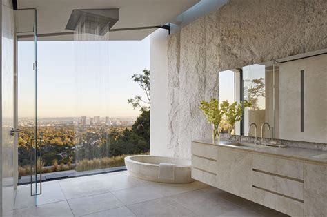 dornbracht bel air l a villa oppenheim architecture design bathrooms