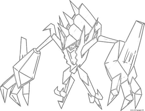 necrozma sl pokemon legendary generation  coloring pages printable