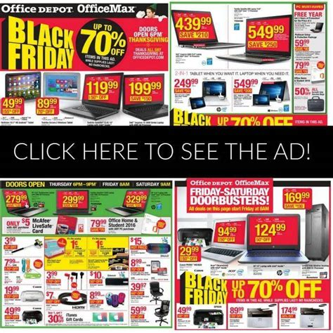 Office Depot Hours Black Friday by Office Depot Black Friday Ad 2015 Deals Store Hours