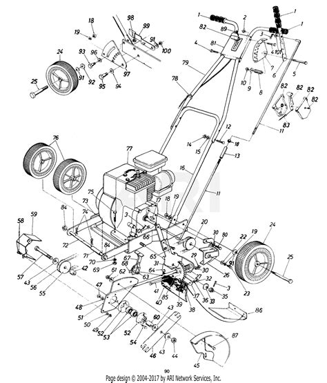 Mtd 10 Hp Wiring Diagram by Mtd 253 586 190 3 Hp Edger 1993 Parts Diagram For Edger
