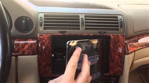 bmw  custom ipad mount double din radio kit youtube