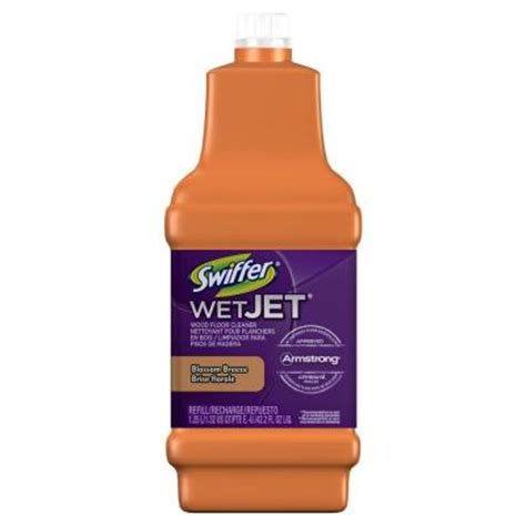 swiffer wetjet wood floor cleaner laminate swiffer wetjet 42 oz wood floor cleaner refill 84846973