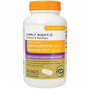 Simply Right Glucosamine Chondroitin - Triple Strength