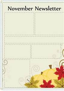 free printable newsletters newsletter templates email With free november newsletter templates