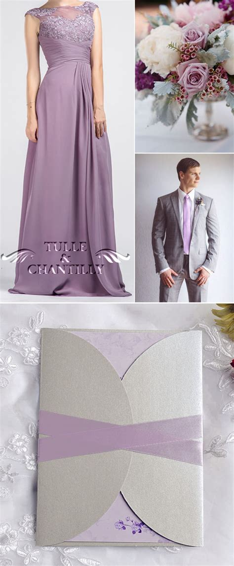 purple wedding color ideas beautiful bridesmaid dresses