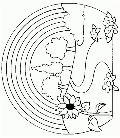 nature coloring pages    print