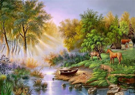 Nature Painting Wallpaper by Urstruly Suresh Paintings Of Birds And Nature