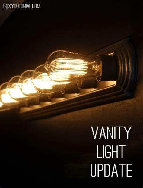 Updating Bathroom Light Fixtures by Best 25 Light Fixture Makeover Ideas On Dyi