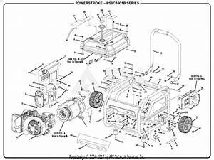 Homelite Ps9c3501b Powerstroke 3 500 Watt Generator Parts