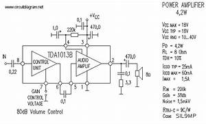 4w Audio Amplifier Based Tda1013b