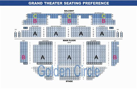 Seating Chart – The Grand
