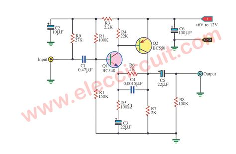 Preamplifier Circuits Using Transistors Eleccircuit