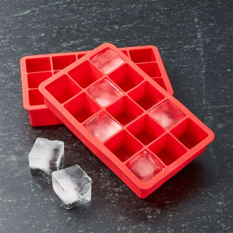 red ice cube trays set   reviews crate  barrel