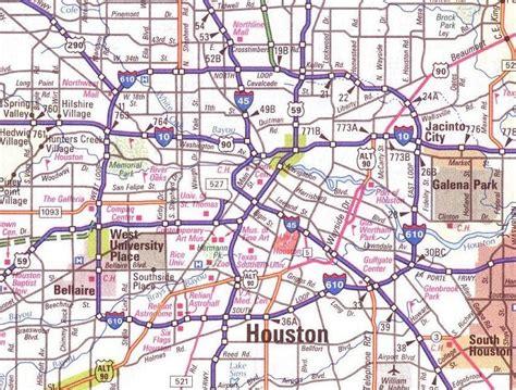large map  houston texas