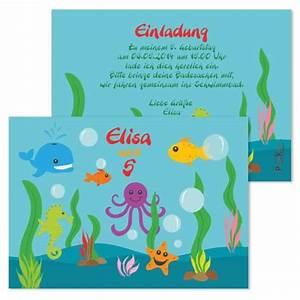 Kindergeburtstag 3 Jahre Spiele : einladungskarte kindergeburtstag unterwasserwelt ~ Whattoseeinmadrid.com Haus und Dekorationen