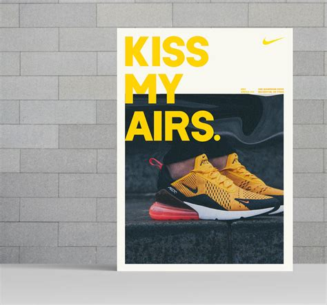 modern bold yellow nike product flyer idea venngage