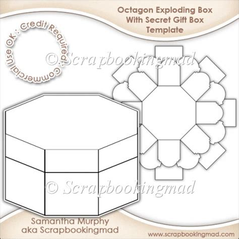 exploding box template exploding box with secret gift box template cu ok 163 3 50 instant card downloads
