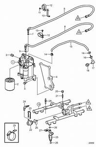 Fuel System For Volvo Penta 5 7osxi