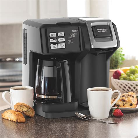 With your own coffee grounds. Hamilton FlexBrew 2 Way Single Serve and Full Pot Programmable Coffee Maker | eBay