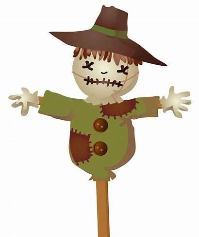 Scarecrow Clipart Clip Pumpkin Thanksgiving Face Orang