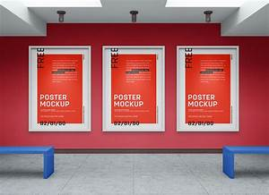 Free, Art, Gallery, Wall, Canvas, Poster, Mockup, Psd