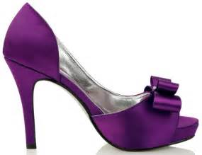 affordable wedding shoes open toe high heel satin affordable bow purple wedding shoes flowerweddingshoes