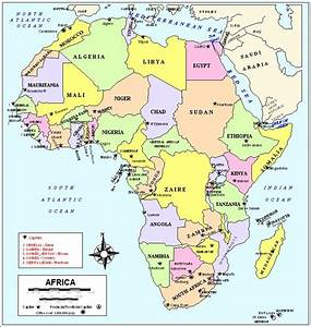Political Map Of Africa Countries And Capitals