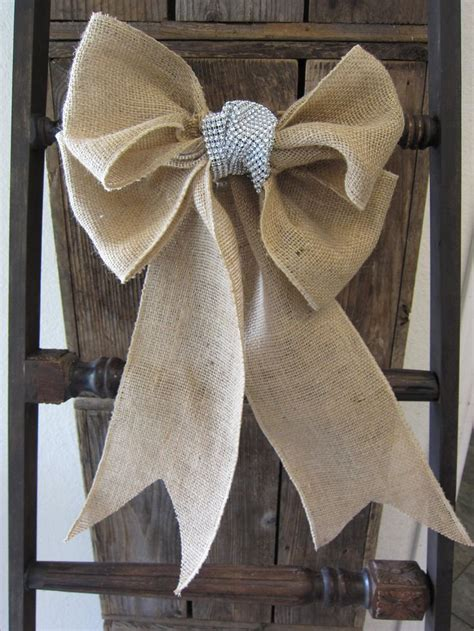 noeuds de chaise mariage burlap bow chair sash 12 00 via etsy it 39 s the most