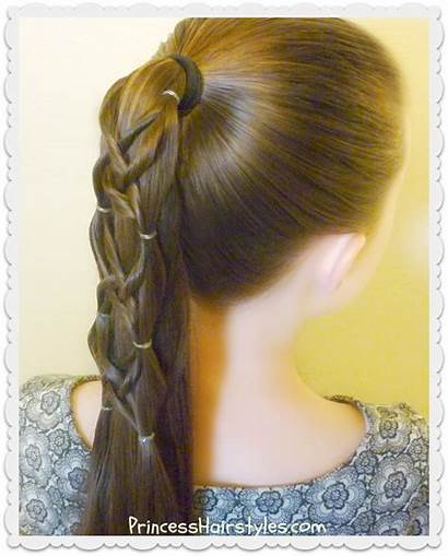 Criss Ponytail Cross Woven Hairstyle Hair Hairstyles