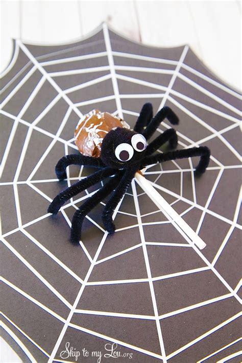 tootsie pop pipe cleaner spider skip   lou