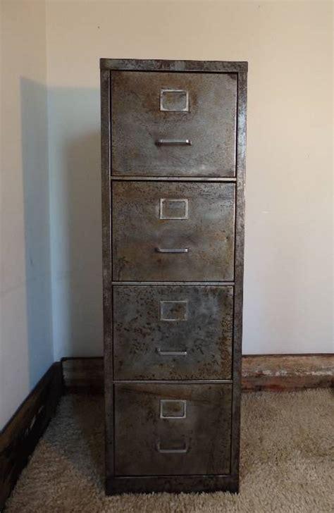 canapé edition meuble classeur métal brossé 4 tiroirs ées 1950