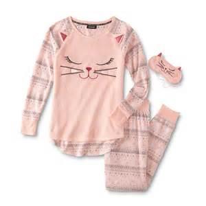 womens cat pajamas joe boxer s fleece pajama top sleep mask