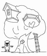 Treehouse Coloring Bestcoloringpagesforkids Bears Tales sketch template