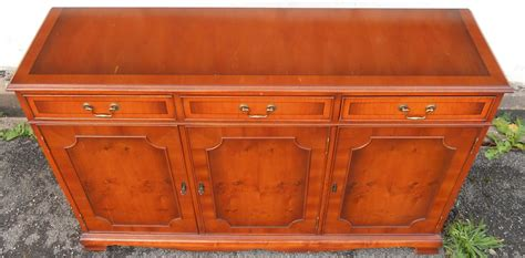 Yew Sideboards three door yew sideboard base